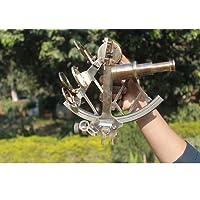 sestante in ottone massiccio bronzo di Euphoria Collection funzionale sextant|vintage sextant|working replica di navigazione di ottone antico sextant|marine Sextant tool|sextant Decor Nautical Maritime Sextant 24,1cm strumento Sextant marina