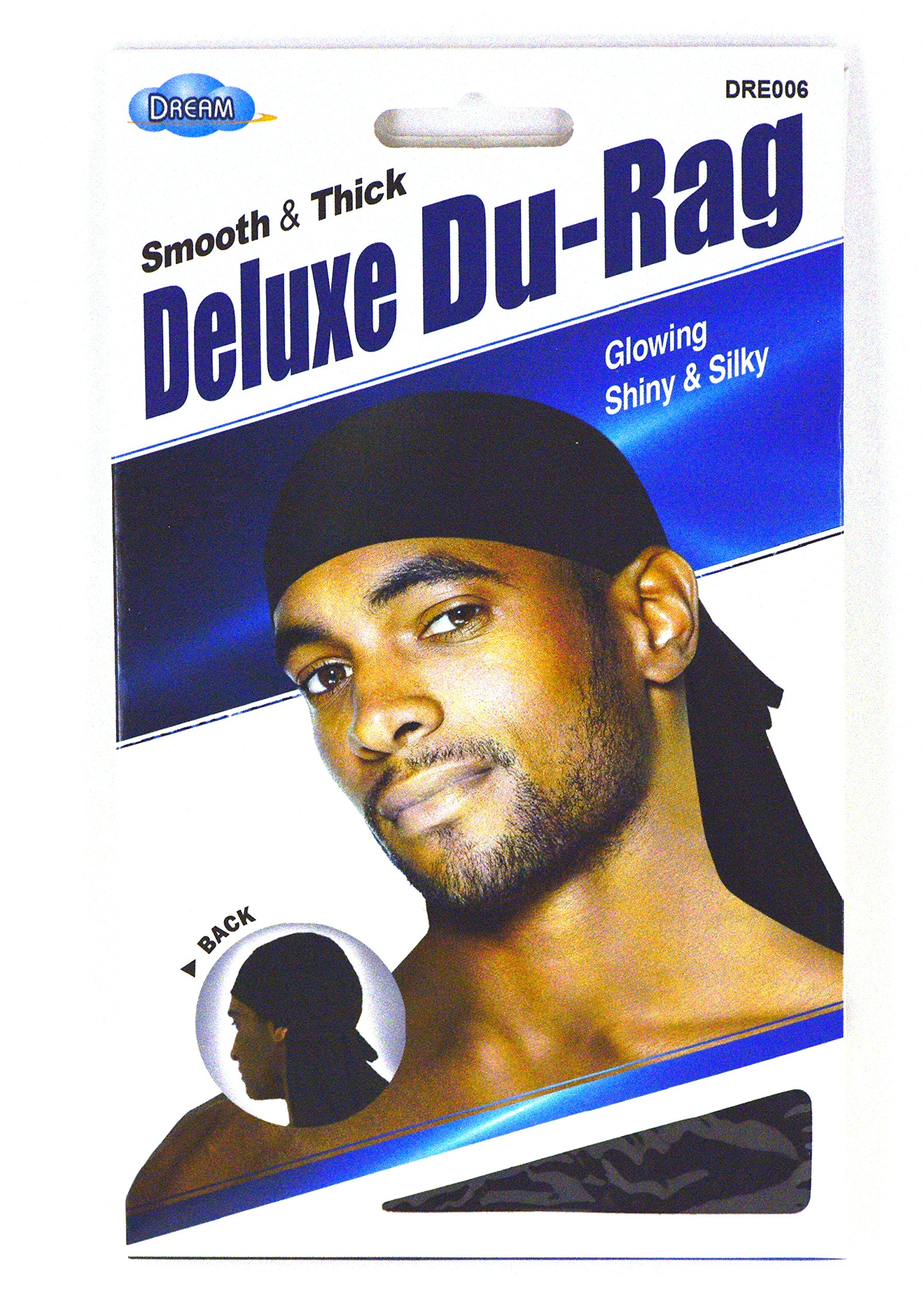Dream Deluxe Du-Rag - Smooth & Thick, Superior Quality, Stretchable, Wrinkle Free, 100% Polyester