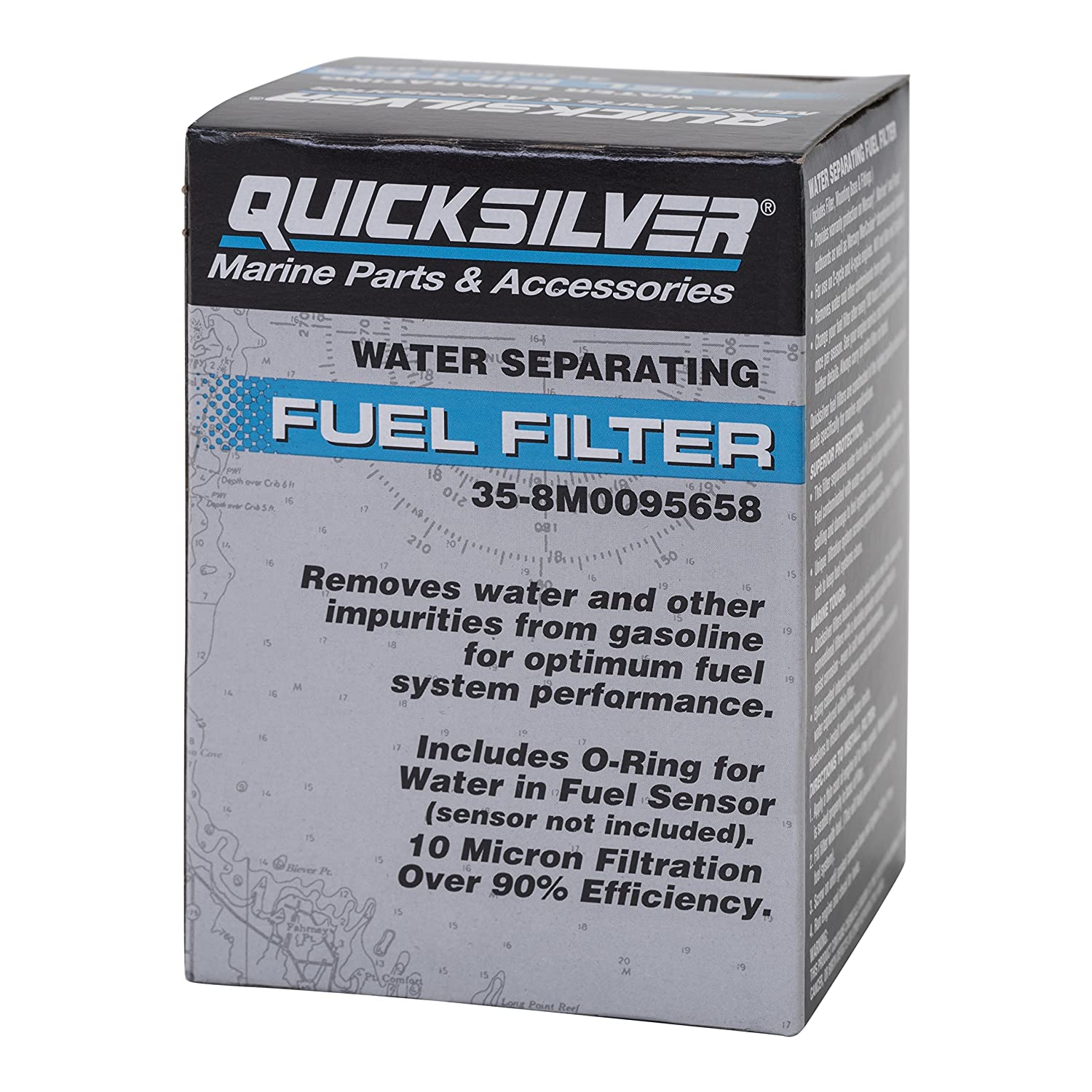 Amazon.com : QuickSilver 8M0095658 Water Separating Fuel Filter Kit -  Verado V-6 Outboards : Sports & Outdoors