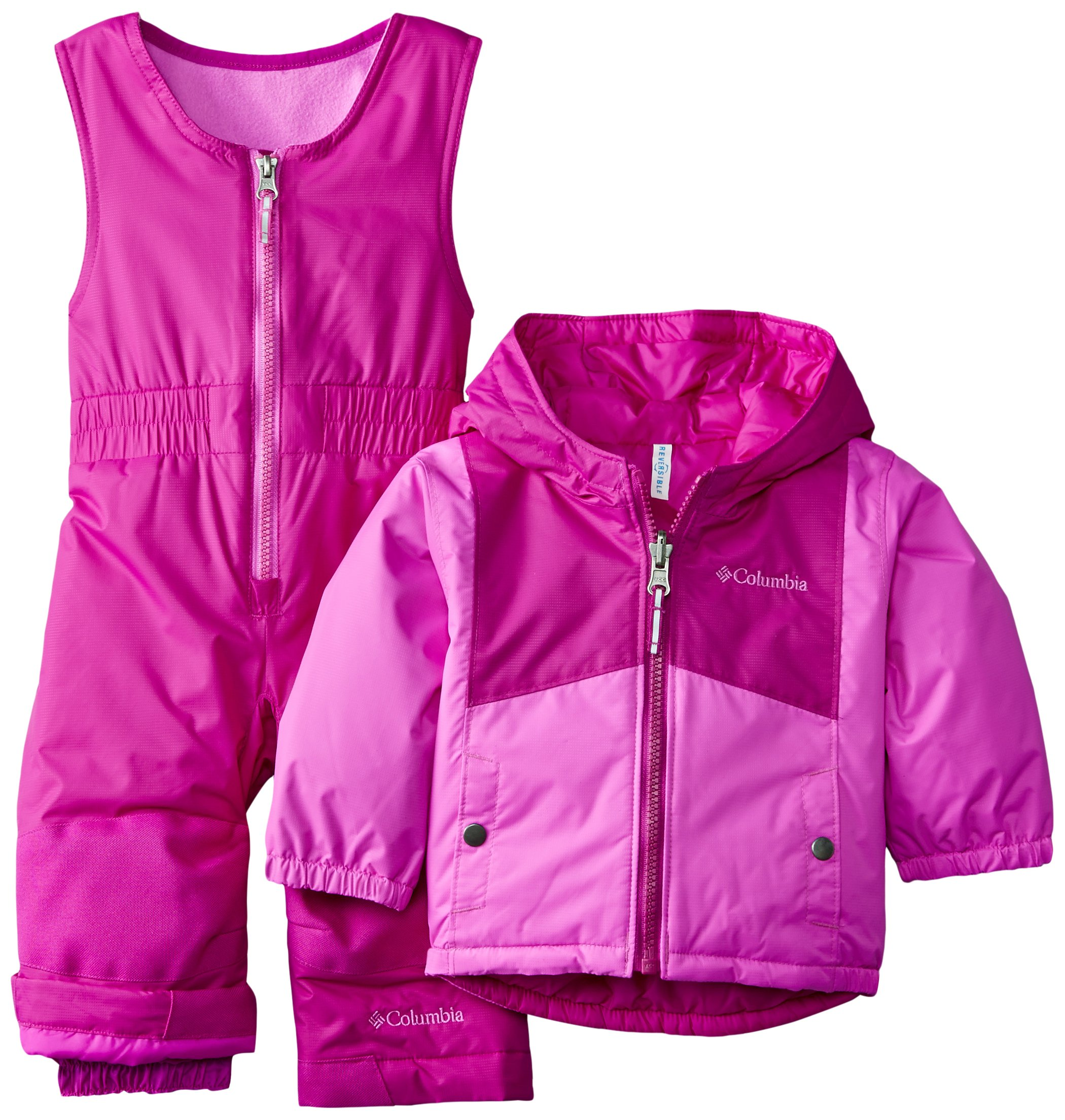 Columbia Baby Girls' Double Flake Reversible Set, Bright Plum/Foxglove, 12-18 Months by Columbia