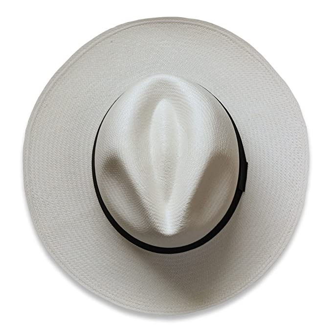 Tumia - Sombrero Panamá Fedora - Versión no Enrollable - Blanco o Natural   Amazon.es  Ropa y accesorios 5a02c4667ff