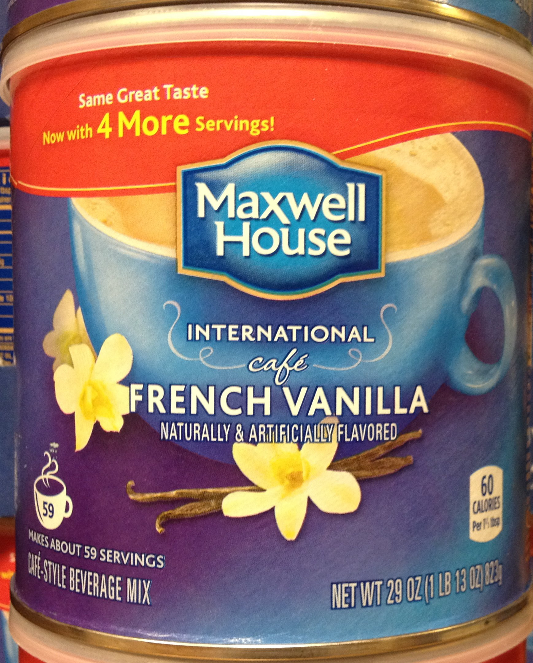 Maxwell House International Cafe FRENCH VANILLA 29oz. (12 Pack)