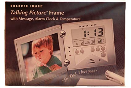 Amazon Talking Picture Frame With Alarm Clock Audio Message