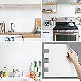 BEAUSTILE Decorative Tile Stickers Peel and Stick Backsplash Fire Retardant Tile Sheet (2pcs) (Blanc de Blanc)