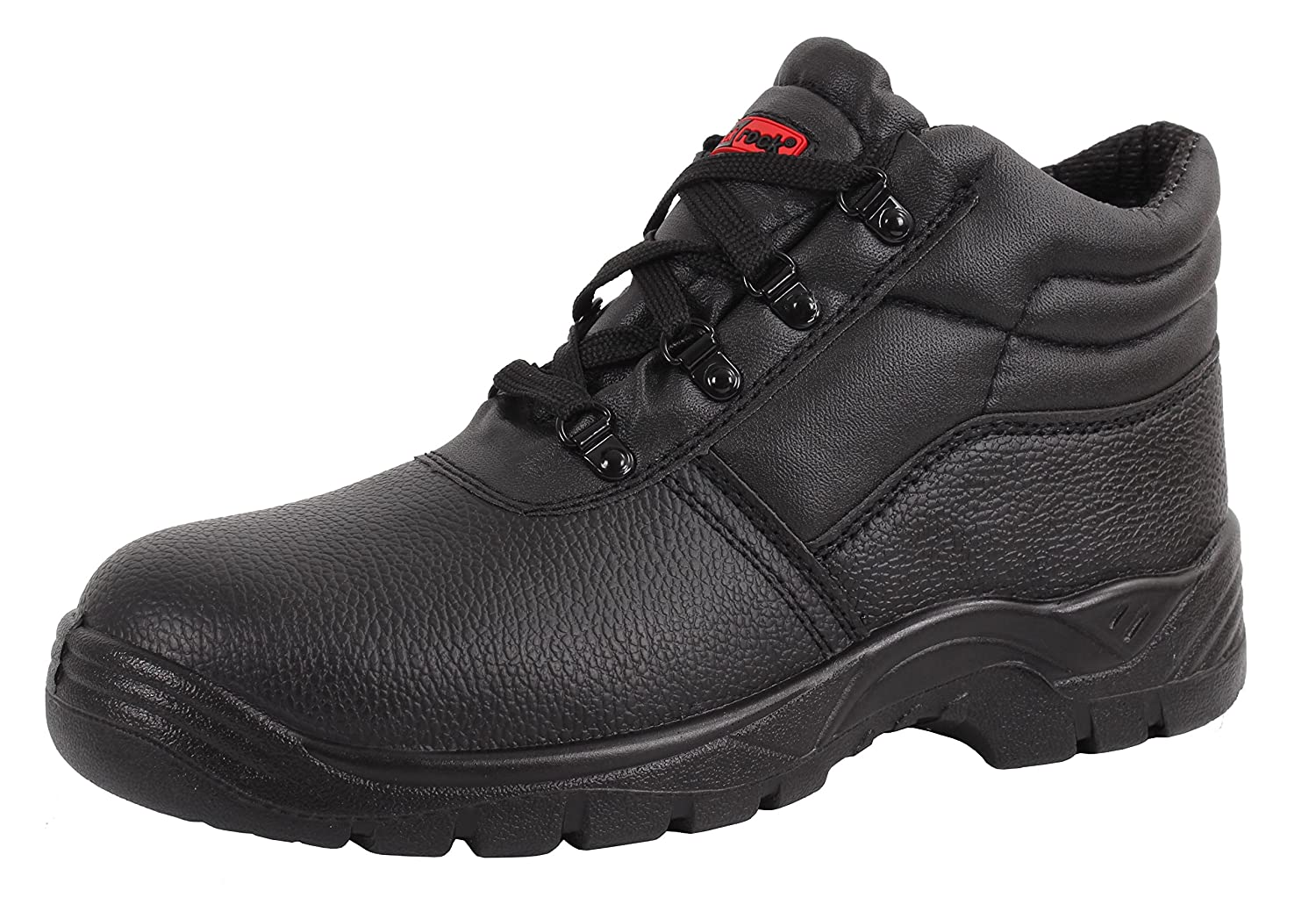 Blackrock Black Leather Work Safety Chukka Boots With Steel Toe Caps And Midsole (UK 9/EURO 43)