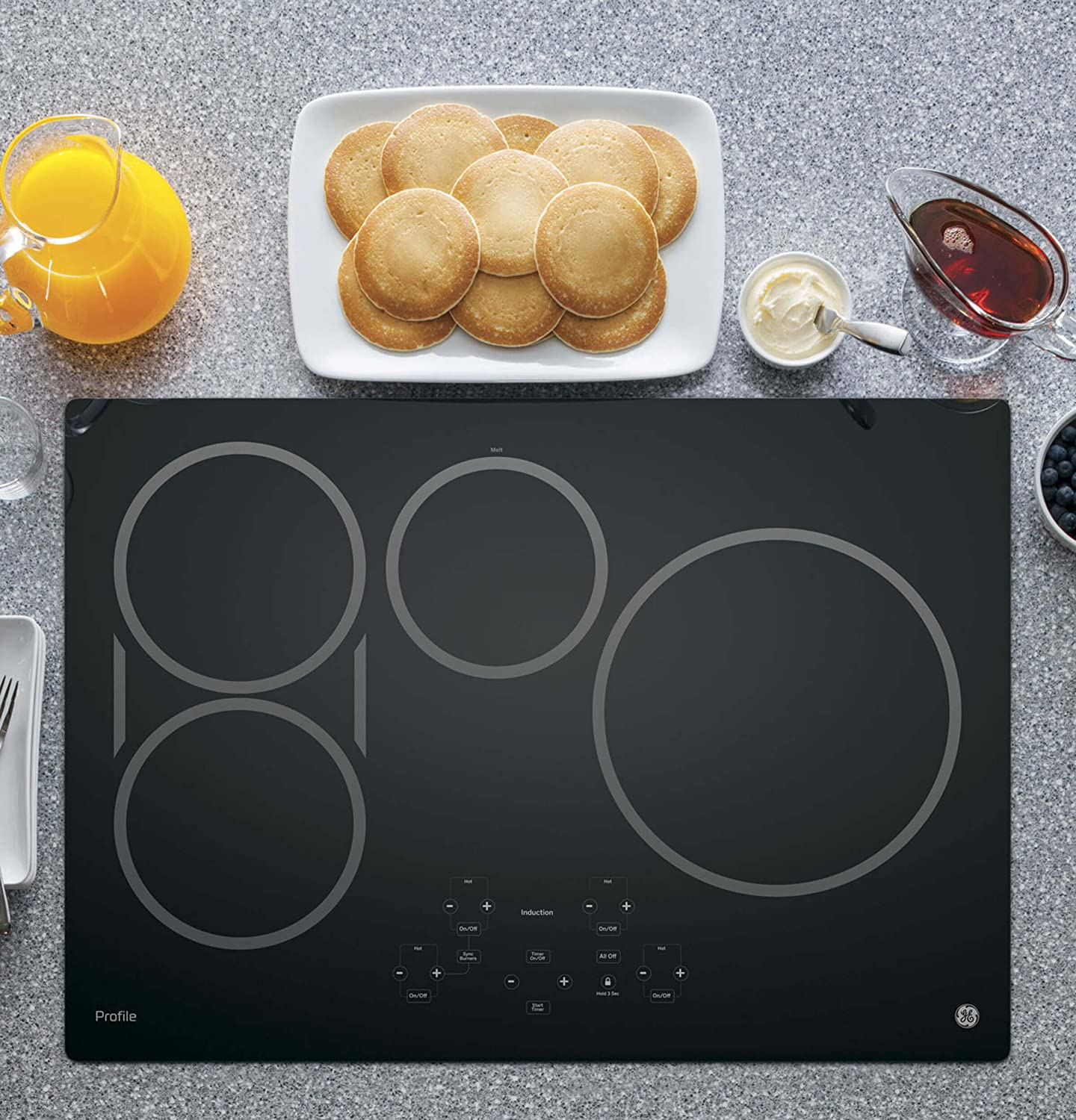 GE PHP9030DJBB Profile 30 Black Electric Induction Cooktop