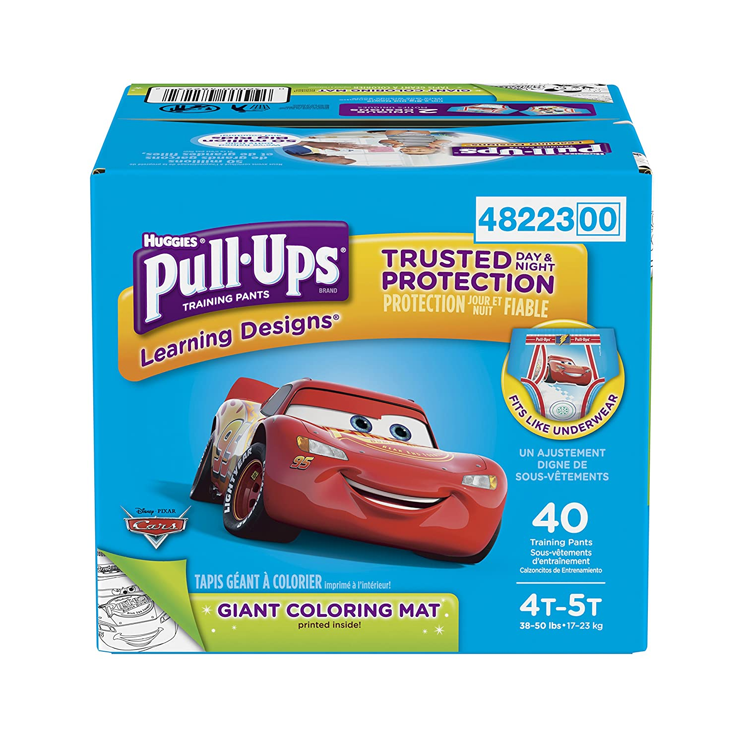 Pull-Ups Learning Designs Potty Training Pants for Boys, 4T-5T (38-50 lb.), 40 Ct. (Packaging May Vary) Kimberly-Clark Corp. 10036000482239