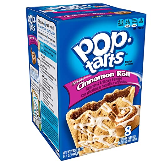 Pop-Tarts Breakfast Toaster Pastries, Frosted Cinnamon Roll Flavored, 14.1 oz (8 Count)(Pack of 8)