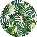 "Luau Party Hawaiian Theme Party Supplies Paper Plates Palms 9"" Round Set 8"