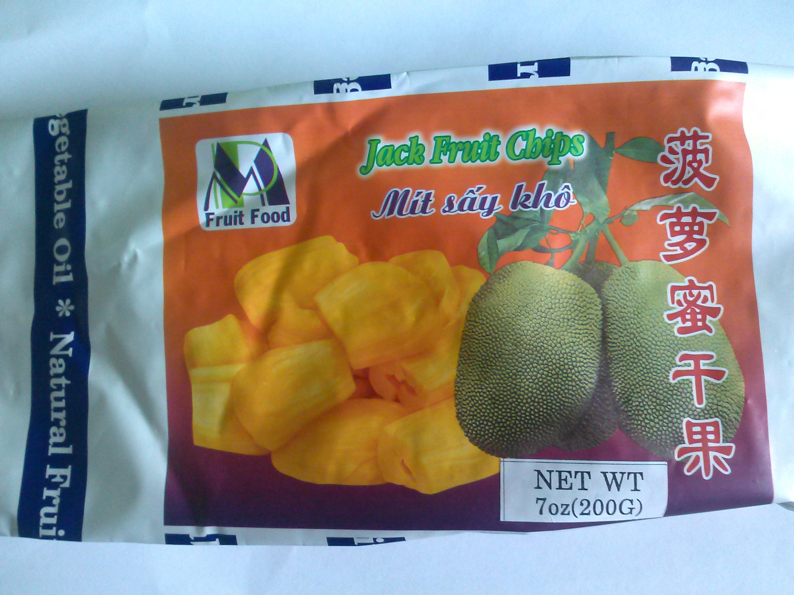 Jackfruit Chips - 2 x 7 oz / 2 x 200 g - Product of Thailand - Natural Jack Fruit chips