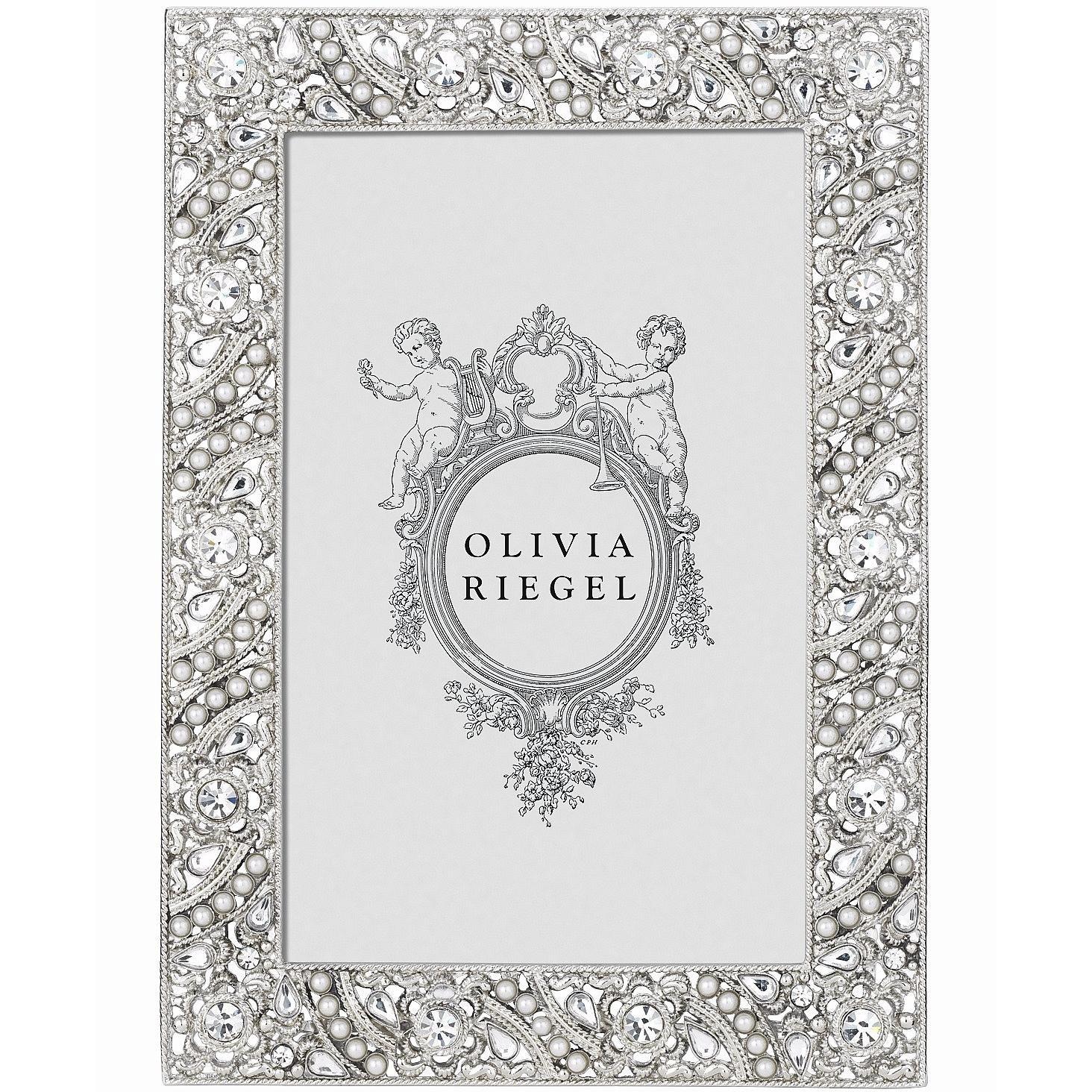 ELOISE Austrian Perle & Crystal 4x6 frame by Olivia Riegel - 4x6 by Olivia Riegel