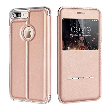 coque iphone 7 plus rabat rose