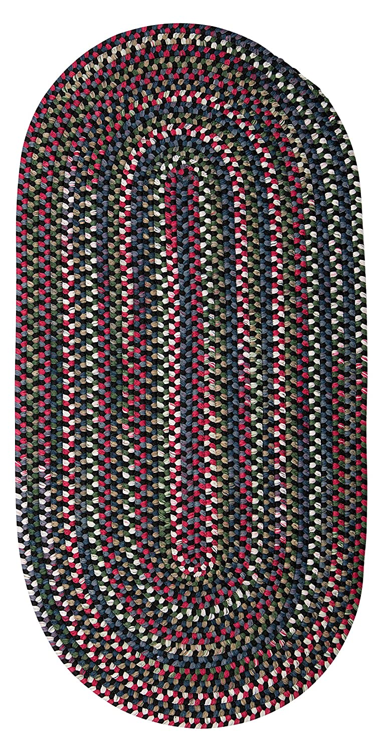 Colonial Mills CK47R024X048 Chestnut Knoll Space-Dye Braided Rug, Black Satin