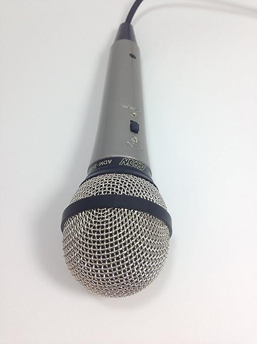 "PRO-LINE UNI-DIRECTIONAL MICROPHONE 1//4/"" PLUG CABLE /& STAND # ZADM-200 ARROW"