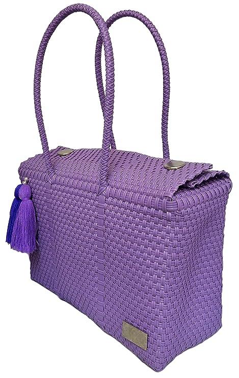 Amazon.com: Bolsa Mano fabricada de plástico reciclado ...