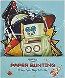 Ginger Ray - Drapeaux fêtes vaisseau spacial robot espace - Aventures de l'espace