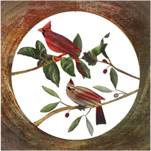 Metal Wall Art Birds16-Inch by 16-Inch Cardinals Art2 Wall Art