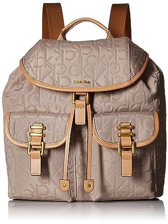 9e3ffd2f20 Calvin Klein womens Calvin Klein Bailey Nylon Backpack, barley, One Size