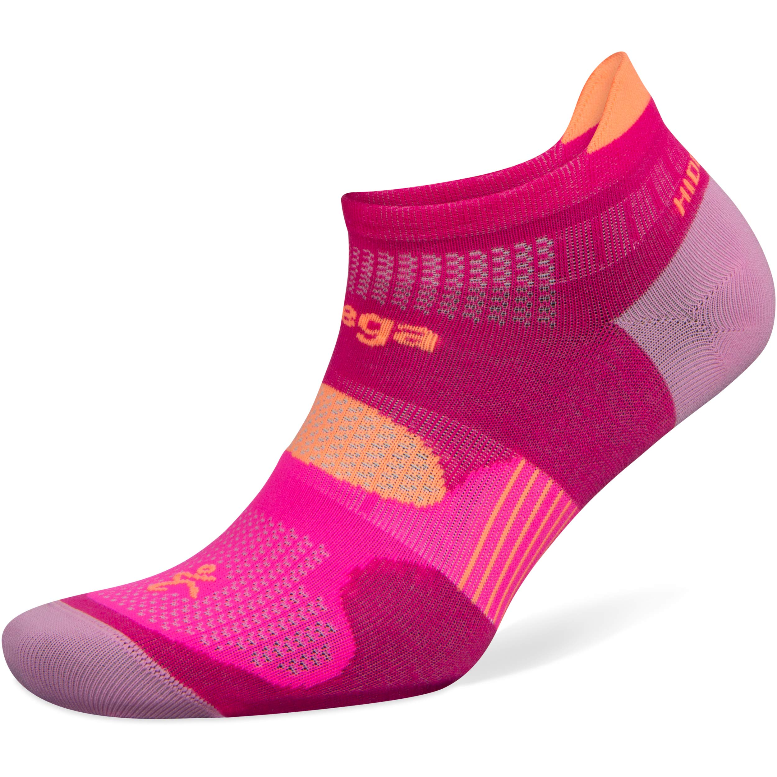 Balega Hidden Dry No Show Socks for Men and Women (1 Pair), Electric Pink/Bubblegum Pink, Large by Balega