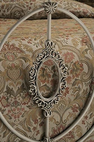 Hillsdale Furniture Victoria Bed Set with Rails, Queen, Antique White