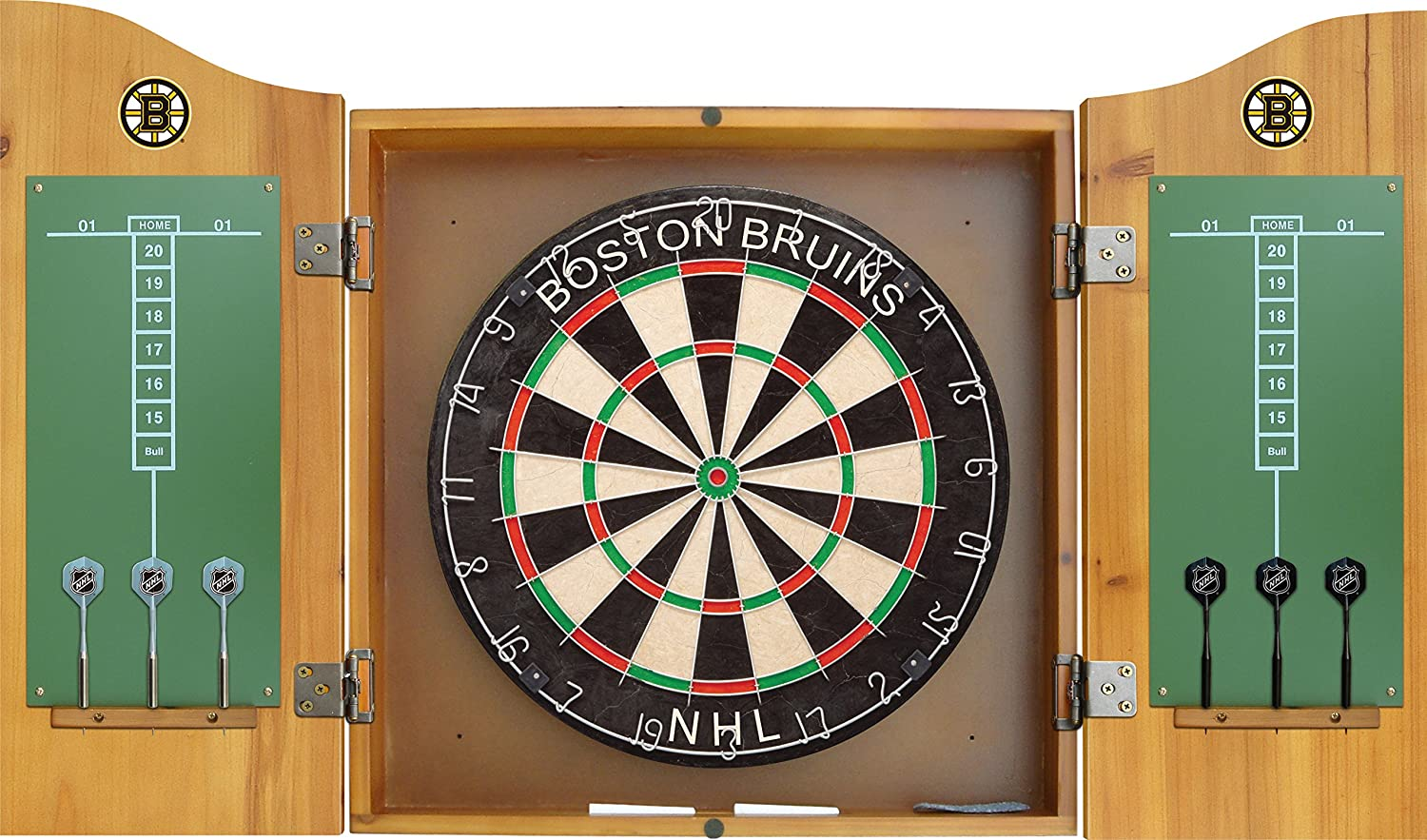 Merveilleux Amazon.com : Imperial Officially Licensed NHL Merchandise: Dart Cabinet Set  With Steel Tip Bristle Dartboard And Darts, Boston Bruins : Sports U0026  Outdoors