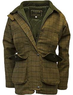 443c4f4beaa2d1 Walker & Hawkes - Ladies Derby Tweed Shooting Country Jacket - Beige Tweed