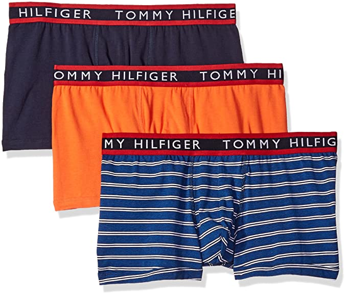 Tommy Hilfiger Hombre Ropa Interior 3 Pack algodón elástico Trunks - Multi - S