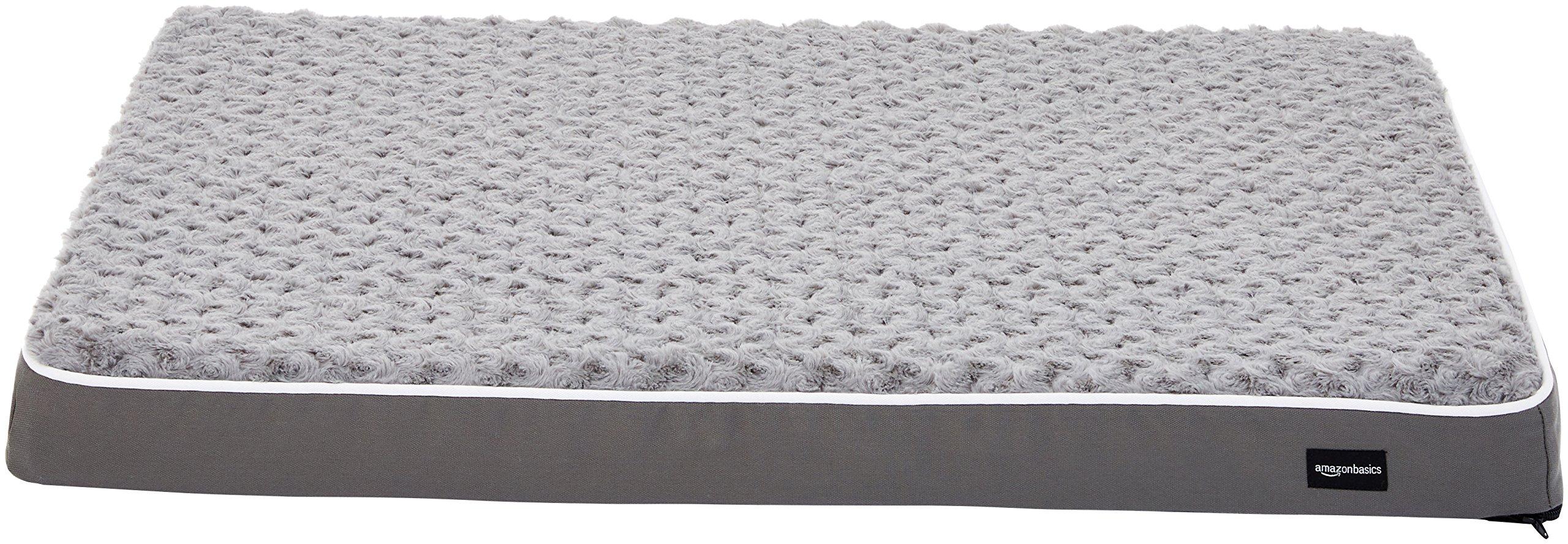 AmazonBasics Ergonomic Foam Pet Dog Bed - 27 x 36 Inches, Grey by AmazonBasics