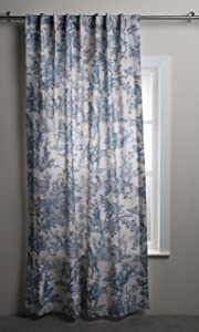 Maison d' Hermine The Miller 100% Cotton Curtain One Panel for Living Rooms Bedrooms Offices Tailored with a Rod Pocket and Loop for Easy Hanging (Denim, 50 Inch by 84 Inch).