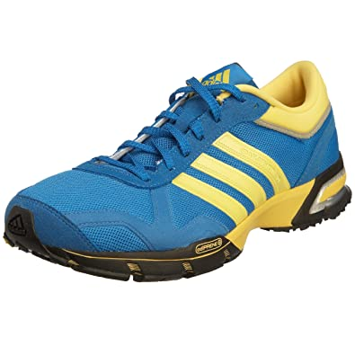 huge discount 72245 a038b adidas Women s Marathon 10 Running Shoe,Signal Blue Core Yellow Black,5