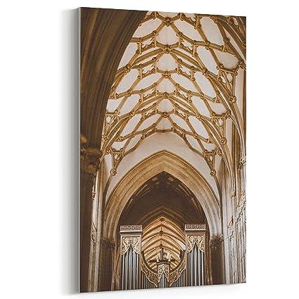 Amazon.com: Westlake Art Canvas Print Wall Art - Arch Medieval on ...