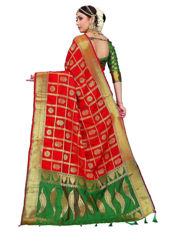 18559f96d ELINA FASHION Sarees for Women Banarasi Art Silk Woven Saree l Indian  Wedding Wear Sari 2584
