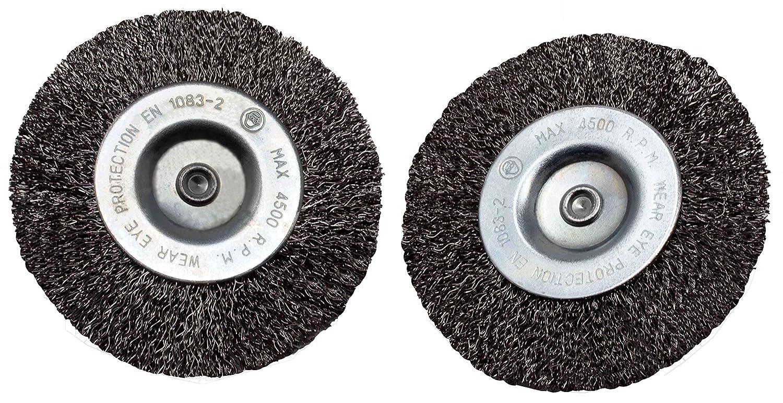Grizzly Elektrische Fugenb/ürste Ersatzb/ürste Drahtb/ürste 2er Set Fugenreiniger Metall Fugen B/ürsten Set 2 St/ück f/ür Grizzly EFB 400 und EFB 401 geblistert