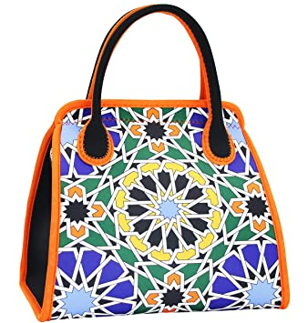 b233543cd9 QOGiR Reusable Insulated Neoprene Lunch Bag Purse Boxes-The Unique Design  of Spanish Style for Women Girls and Teen Girls(Alhambra B01)  Amazon.ca   Home   ...