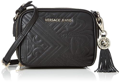 Versace Jeans - Ee1vsbbz4, Carteras de mano Mujer, Negro (Nero), 9x14x18