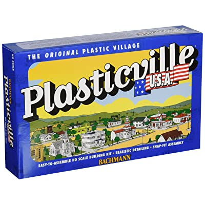 Bachmann Trains - PLASTICVILLE U.S.A. BUILDINGS – CLASSIC KITS - FARM BUILDINGS with ANIMALS - HO Scale: Toys & Games [5Bkhe1102567]