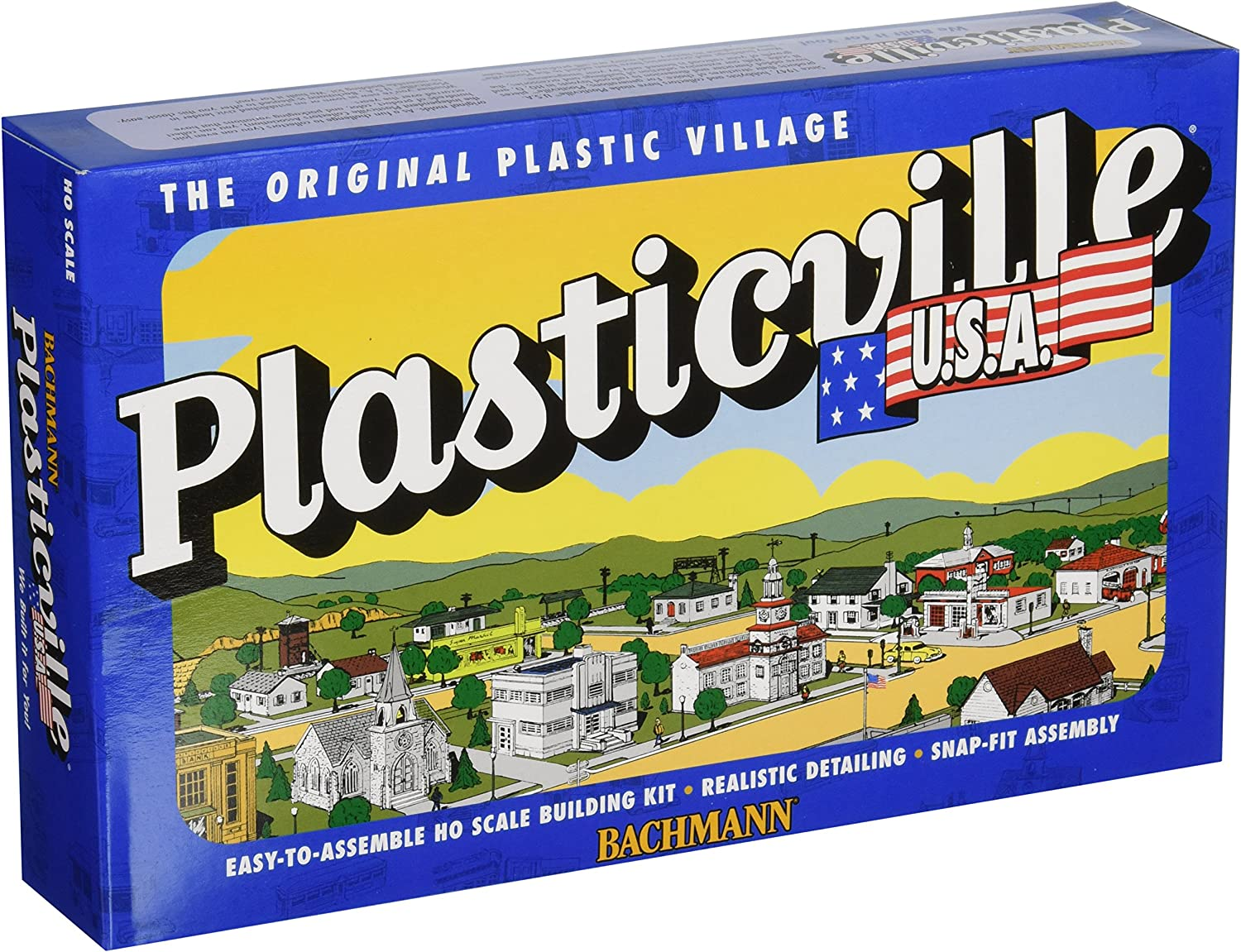 Bachmann Trains - PLASTICVILLE U.S.A. BUILDINGS – CLASSIC KITS - FARM BUILDINGS with ANIMALS - HO Scale