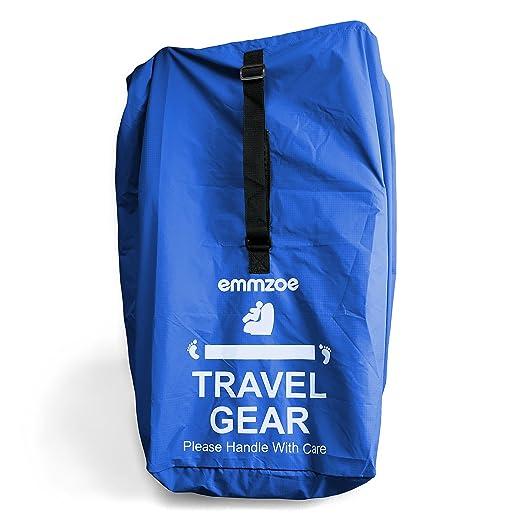 Emmzoe Premium Car Seat Airport Gate Check Travel Storage Bag Features Durable Nylon Hand//Shoulder Strap Pink Foldable Pouch