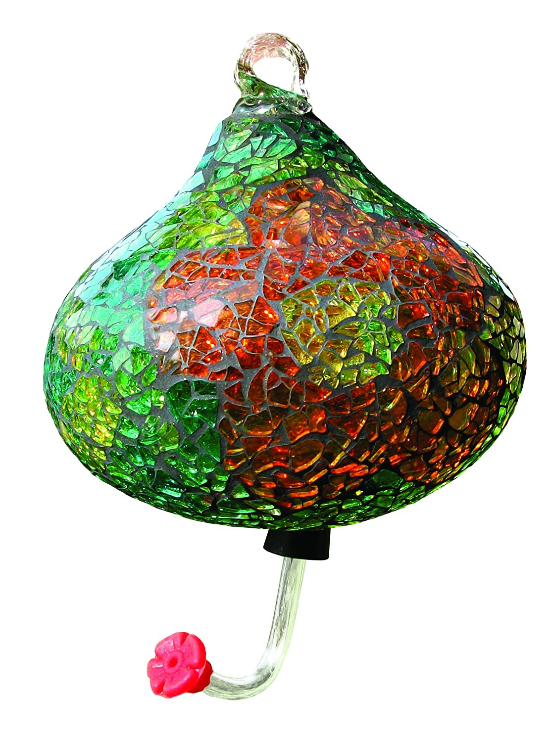Gardman BA05726 Green Teardrop Mosaic Glass Hummingbird Feeder World Source Partners