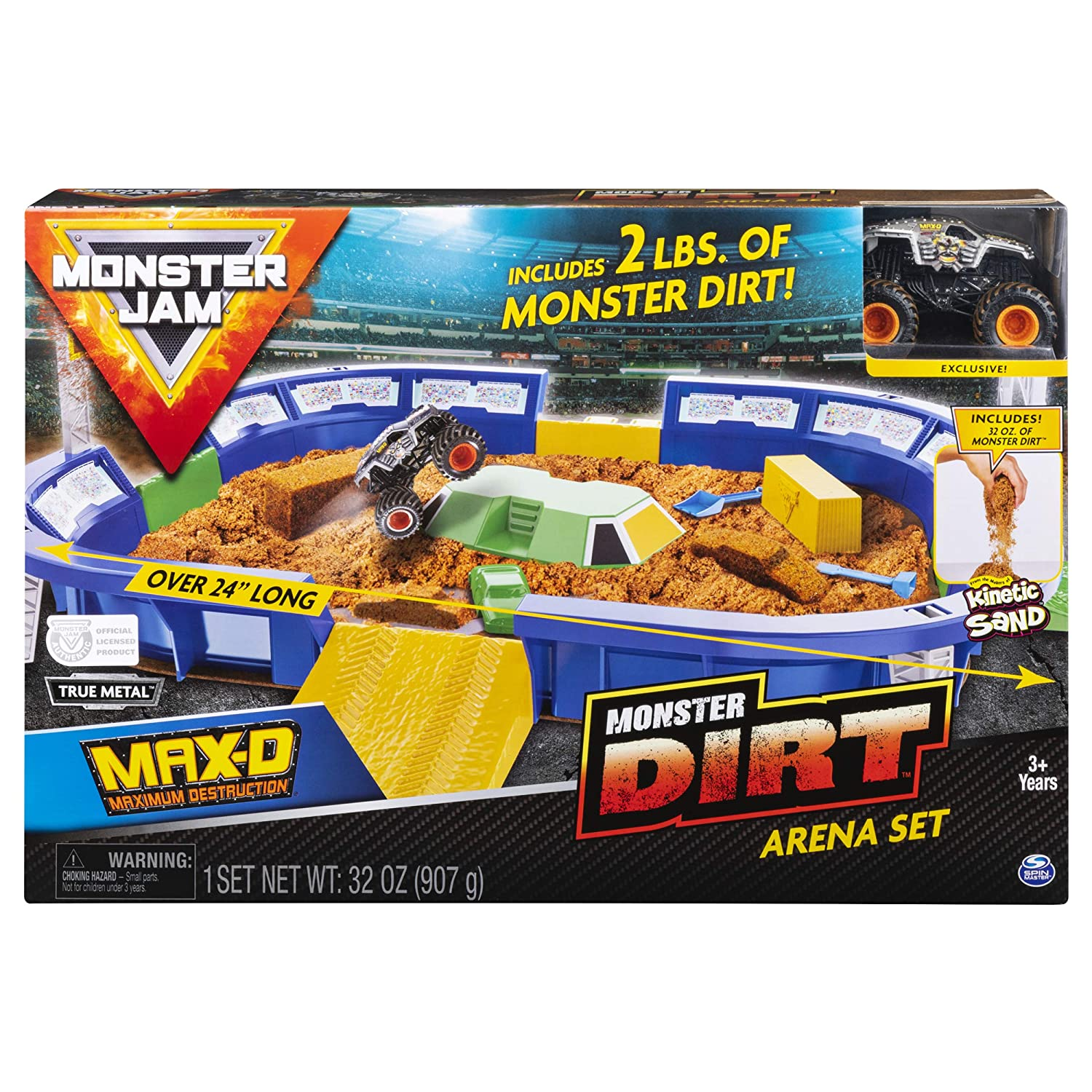 "Monster Jam, Monster Dirt Arena 24"" Playset with 2lbs of Monster Dirt & Exclusive 1: 64 Scale Die-Cast Truck"
