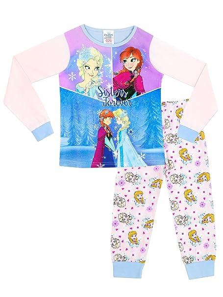 Disney Frozen - Pijama para niñas - Anna y Elsa - 5 - 6 Años