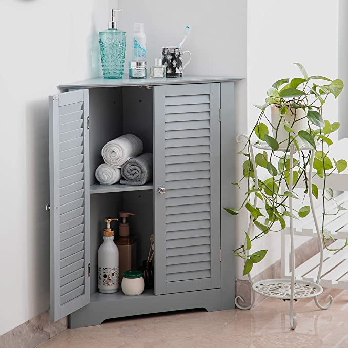 Aspect Odense Bathroom Bedroom Wooden Storage Cabinet Grey Engineered Wood 66 5x47x79 5cm Amazon Co Uk Kitchen Home
