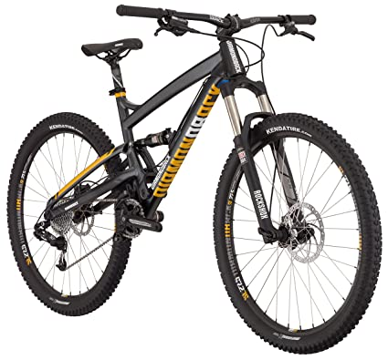 5b903a37399 Diamondback Bicycles 2016 Atroz Comp Complete Ready Ride Full Suspension Mountain  Bike, Dark Silver,