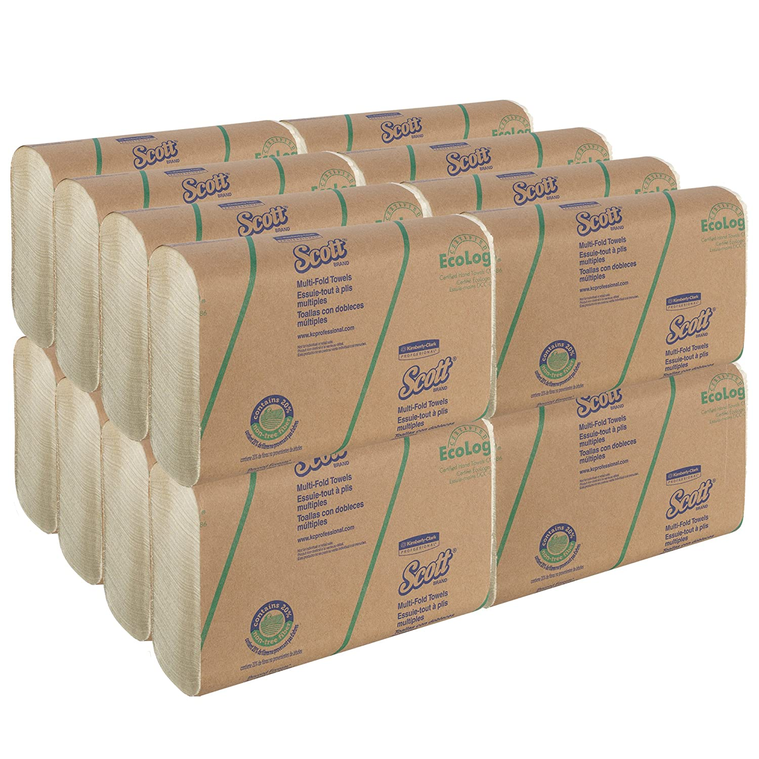 Amazon.com: Scott Multifold Paper Towels (11829) with 20% Alternative Fiber, Soft Wheat, 250 / Pack, 16 Packs/Case, 4,000 Sheets: Industrial & Scientific