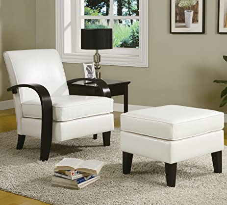 accent arm chair with ottoman. roundhill furniture wonda bonded leather accent arm chair with ottoman white i