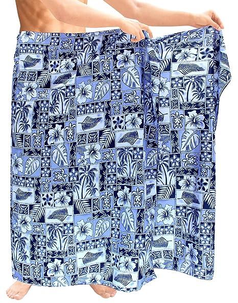 77e39f34c8 Mens Sarong Pareo Wrap Cover ups Beachwear Swimsuit Bathing Suit Hawaiian