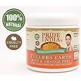 Pride of India – Polvo de arcilla de limpieza profunda de la tierra de Fuller, 100% natural
