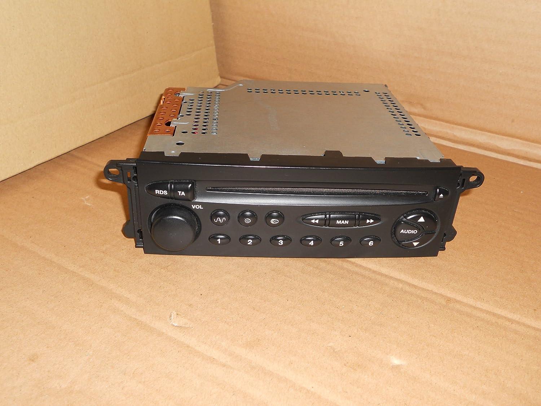 GENUINE CITROEN XSARA / PICASSO / C5 SINGLE CD PLAYER RADIO IN BLACK WITH CODE UNMARRIED GENUINE CITROEN CD PLAYER RADIO