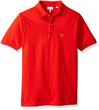 6eb12543 Lacoste Boys' Little Short Sleeve Classic Pique Polo, ETNA RED, ...