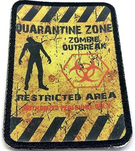 Parche Morale sublimado de cuarentena Zona Zombie Outbreak Cosplay Airsoft: Amazon.es: Deportes y aire libre
